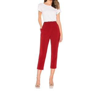 NWT Line & dot Rosey Cropped Pant in Red